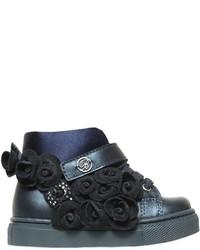 Zapatillas de ante azul marino de Miss Blumarine