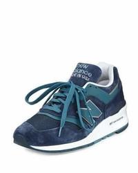 Zapatillas de ante azul marino de New Balance