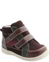 Zapatillas de ante en marrón oscuro