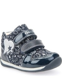 Zapatillas de ante estampadas azul marino de Geox