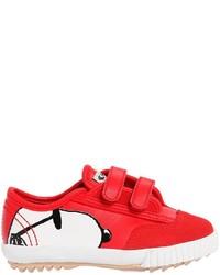 Zapatillas de ante estampadas rojas de Feiyue