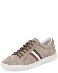 Zapatillas de ante marrón claro de Moncler