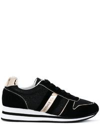 Zapatillas de ante negras de Versace