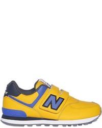 Zapatillas de cuero amarillas de New Balance