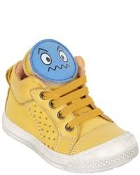 Zapatillas de cuero amarillas de Ocra