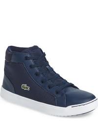 Zapatillas de cuero azul marino de Lacoste