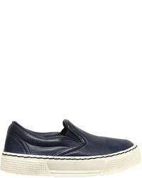 Zapatillas de cuero azul marino de Pépé
