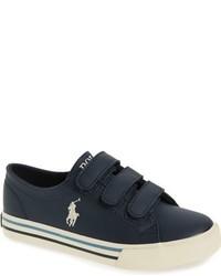 Zapatillas de cuero azul marino de Ralph Lauren