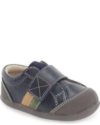 Zapatillas de cuero azul marino de See Kai Run