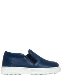 Zapatillas de cuero azul marino de Tod's