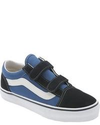 Zapatillas de cuero azul marino de Vans
