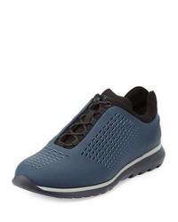 Zapatillas de cuero azules de Ermenegildo Zegna