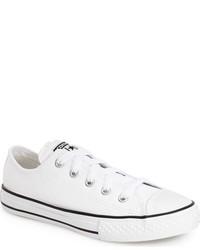 Zapatillas de cuero blancas de Converse