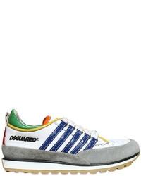 Zapatillas de cuero blancas de DSQUARED2