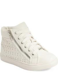 Zapatillas de cuero blancas de Steve Madden