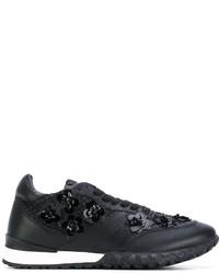 Zapatillas de Cuero con Adornos Negras de Twin-Set