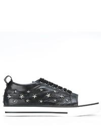 Zapatillas de cuero de estrellas negras de RED Valentino