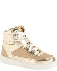 Zapatillas de cuero doradas de MICHAEL Michael Kors