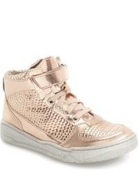 Zapatillas de cuero doradas de Stella McCartney