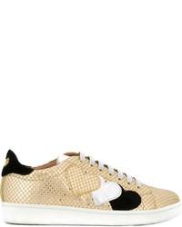 Zapatillas de cuero doradas de Twin-Set
