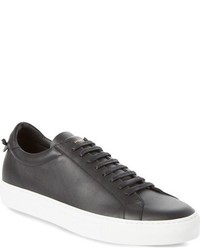 Zapatillas de cuero en gris oscuro de Givenchy