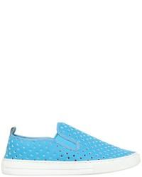 Zapatillas de cuero en turquesa de Stella McCartney