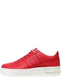 Zapatillas de cuero estampadas rojas de Nike