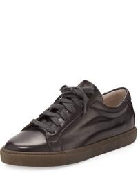 Zapatillas de cuero marrónes de Brunello Cucinelli