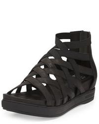 Zapatillas de cuero negras de Eileen Fisher