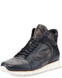 Zapatillas de cuero negras de John Varvatos