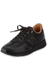 Zapatillas de cuero negras de New Balance