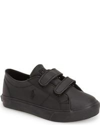 Zapatillas de cuero negras de Ralph Lauren