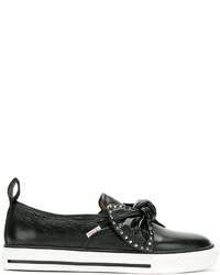 Zapatillas de cuero negras de RED Valentino
