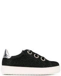 Zapatillas de cuero negras de Twin-Set