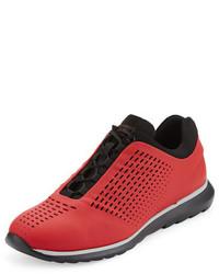 Zapatillas de cuero rojas de Ermenegildo Zegna