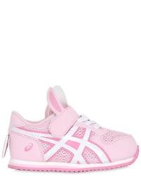 Zapatillas de cuero rosadas de Asics