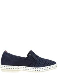 Zapatillas de lona azul marino de Rivieras