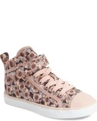 Zapatillas de lona rosadas de Geox