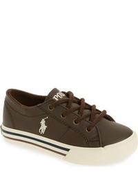 Zapatillas en marrón oscuro de Ralph Lauren
