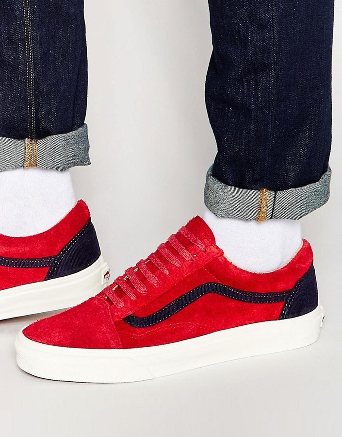 zapatillas rojas vans