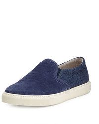 Zapatillas slip-on azul marino de Brunello Cucinelli