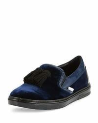 Zapatillas slip-on azul marino de Jimmy Choo