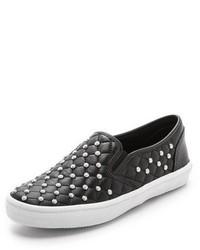 Zapatillas slip-on con adornos negras