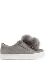Zapatillas slip-on de ante con adornos grises de Sam Edelman