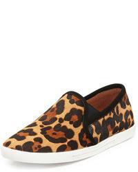 Zapatillas slip-on de ante de leopardo marrón claro de Joie