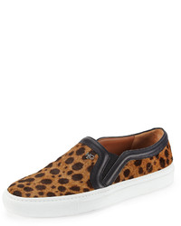 Zapatillas slip-on de ante de leopardo marrónes de Givenchy