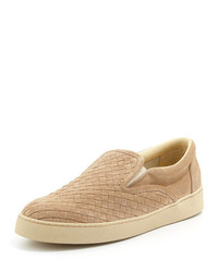 Zapatillas slip-on de ante marrón claro de Bottega Veneta