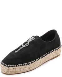 Zapatillas slip-on de ante negras de Alexander Wang