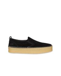 Zapatillas slip-on de ante negras de Burberry