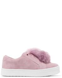 Zapatillas slip-on de ante rosadas